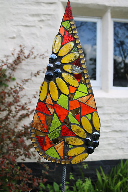 Sunflower Teardrop Garden Art