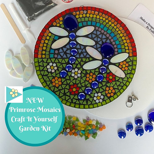 Dragonfly Circle- Garden Mosaic Craft Kit
