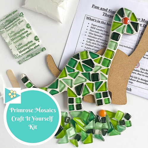GREEN DINOSAUR- Indoor Mosaic Craft Kit
