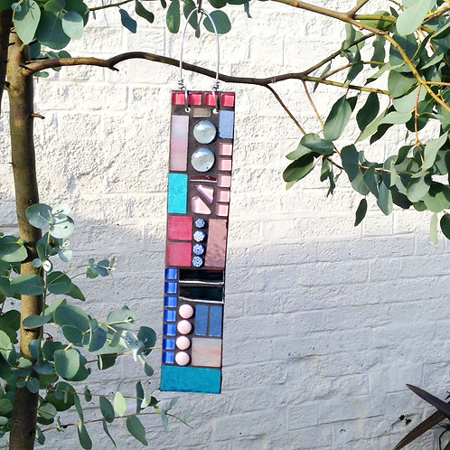 Cottage Garden Pendant: Glass Hanging Mosaic