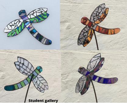 Dragonfly workshop glass