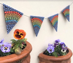 Copy of rainbow bunting for the garden (