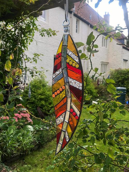 Hanging Garden Feather: Orange