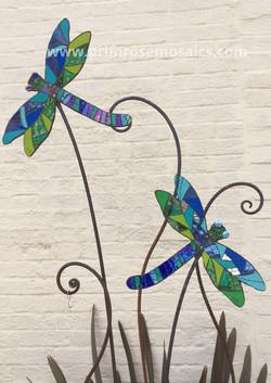 Dragonfly Duo Garden Sculpture