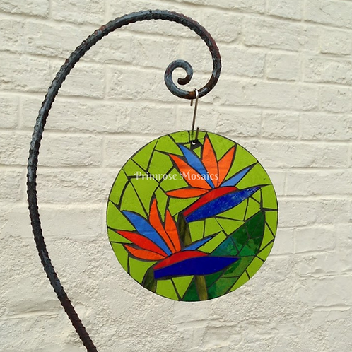 Bird of Paradise Garden Mosaic Art
