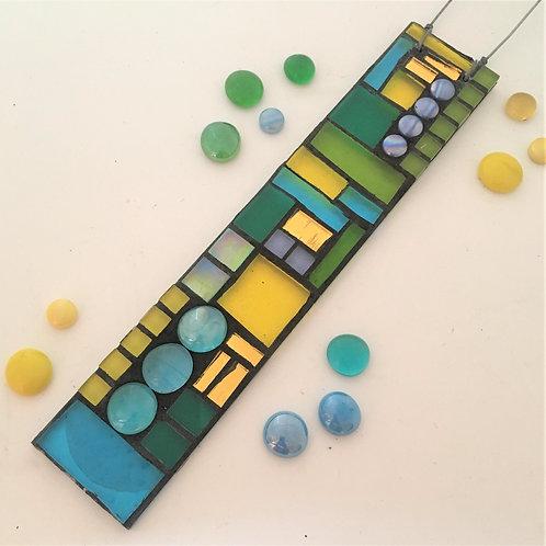 Springtime Garden Pendant: Glass Hanging Mosaic