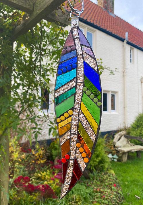 Hanging Garden Feather: Rainbow