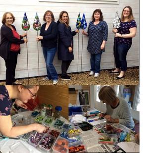 students from swindon glass mosaic teardrop workshoo