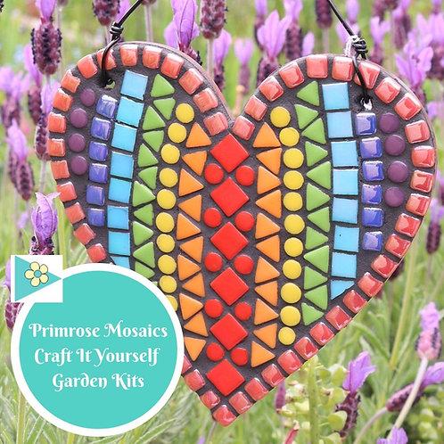 Rainbow Heart- Garden Mosaic Craft Kit