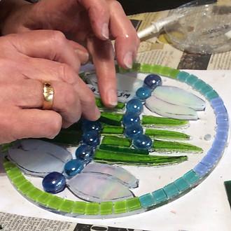 dragonfly mosaic workshop wiltshire