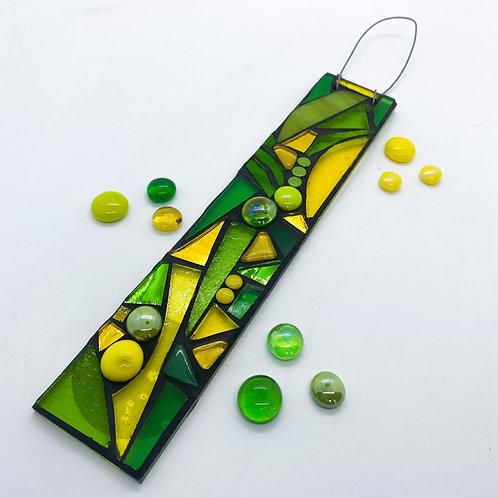 Green Puzzle Hanging Garden Pendant