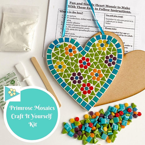 FLORAL HEART- Indoor Mosaic Craft Kit