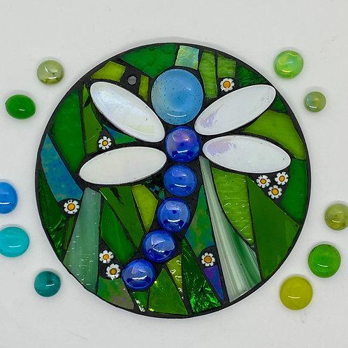 Dragonfly: Glass Hanging Garden Mosaic
