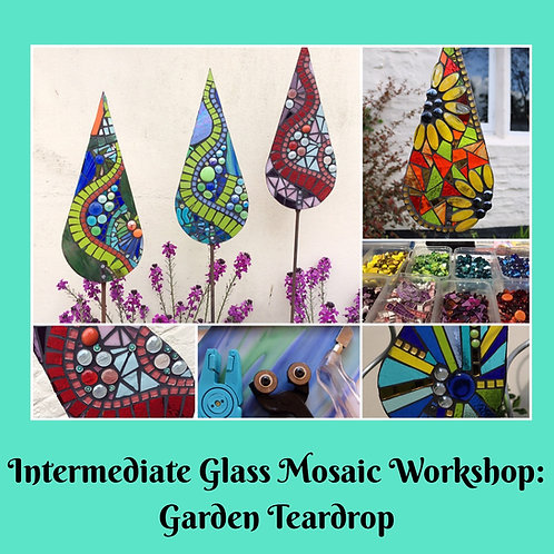 Voucher for Garden Teardrop: Intermediate Mosaic Workshop
