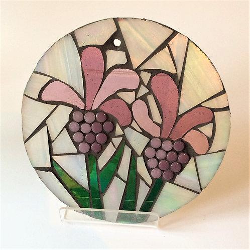 Lavender: Glass Hanging Garden Mosaic