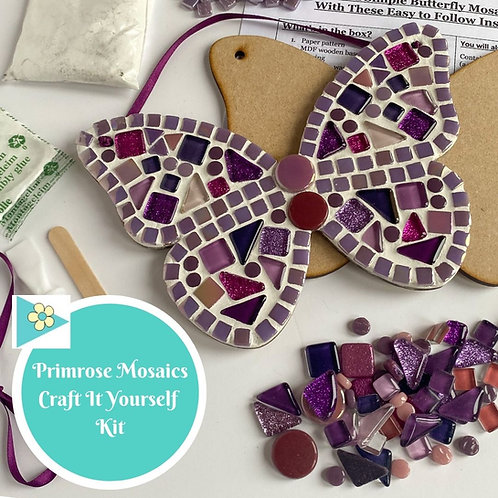 PINK BUTTERFLY- Indoor Mosaic Craft Kit