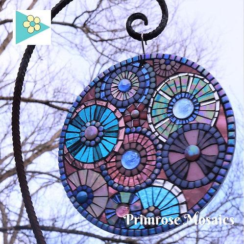 Round and Round: Glass Hanging Garden Mosaic Suncatcher