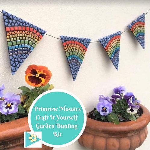 Rainbow Garden Bunting: DIY Mosaic Craft Kit
