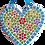 Thumbnail: FLORAL HEART- Indoor Mosaic Craft Kit