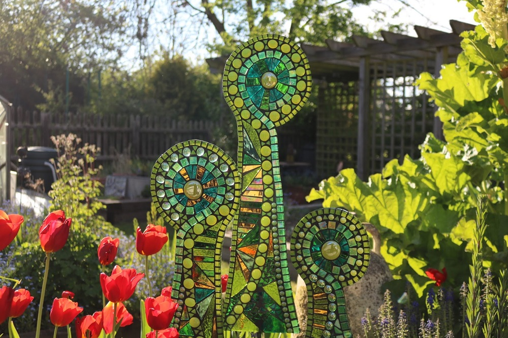 ferns-garden focal point-sculpture