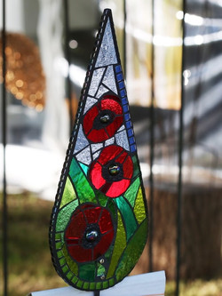 Poppy-Garden Gift- Mosaic Art