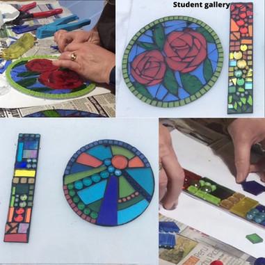 poppy circle mosaic swindon workshop