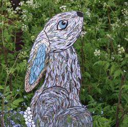 moongazey hare-garden sculpture