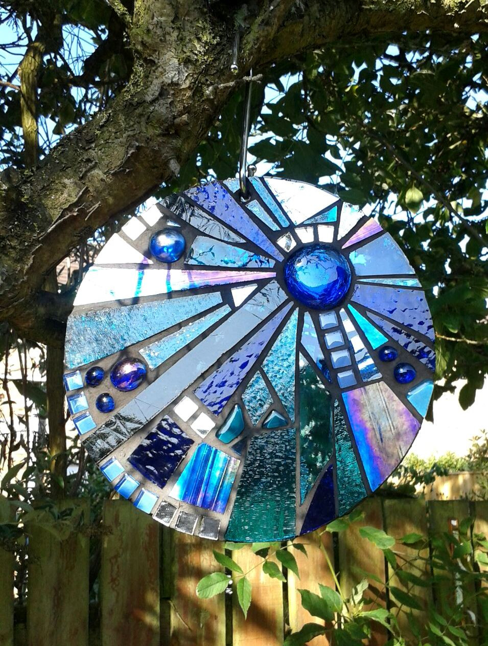 hanging glass mosaic