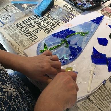glass mosaic workshop wiltshire