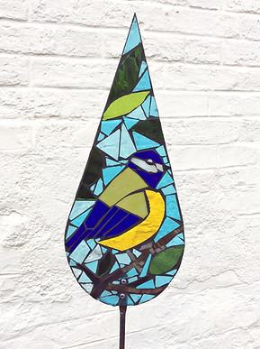 blue tit mosaic workshop