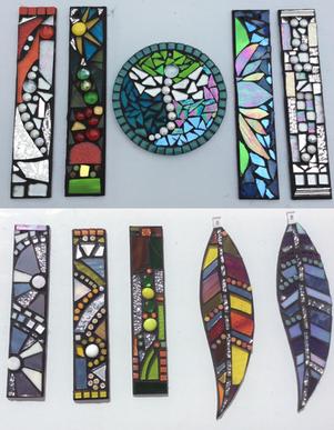Glass Feather hanging mosaic pendant class swindon