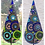 Thumbnail: Concentric Circle Teardrop- Choice of Colours