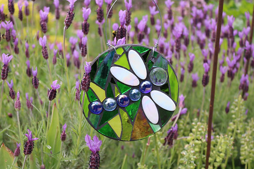 Dragonfly: Glass Hanging Garden Mosaic