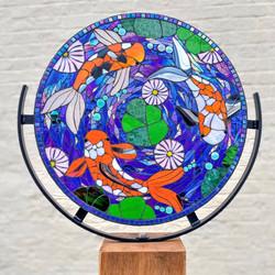 Enchanted Pond Koi Carp Mosaic