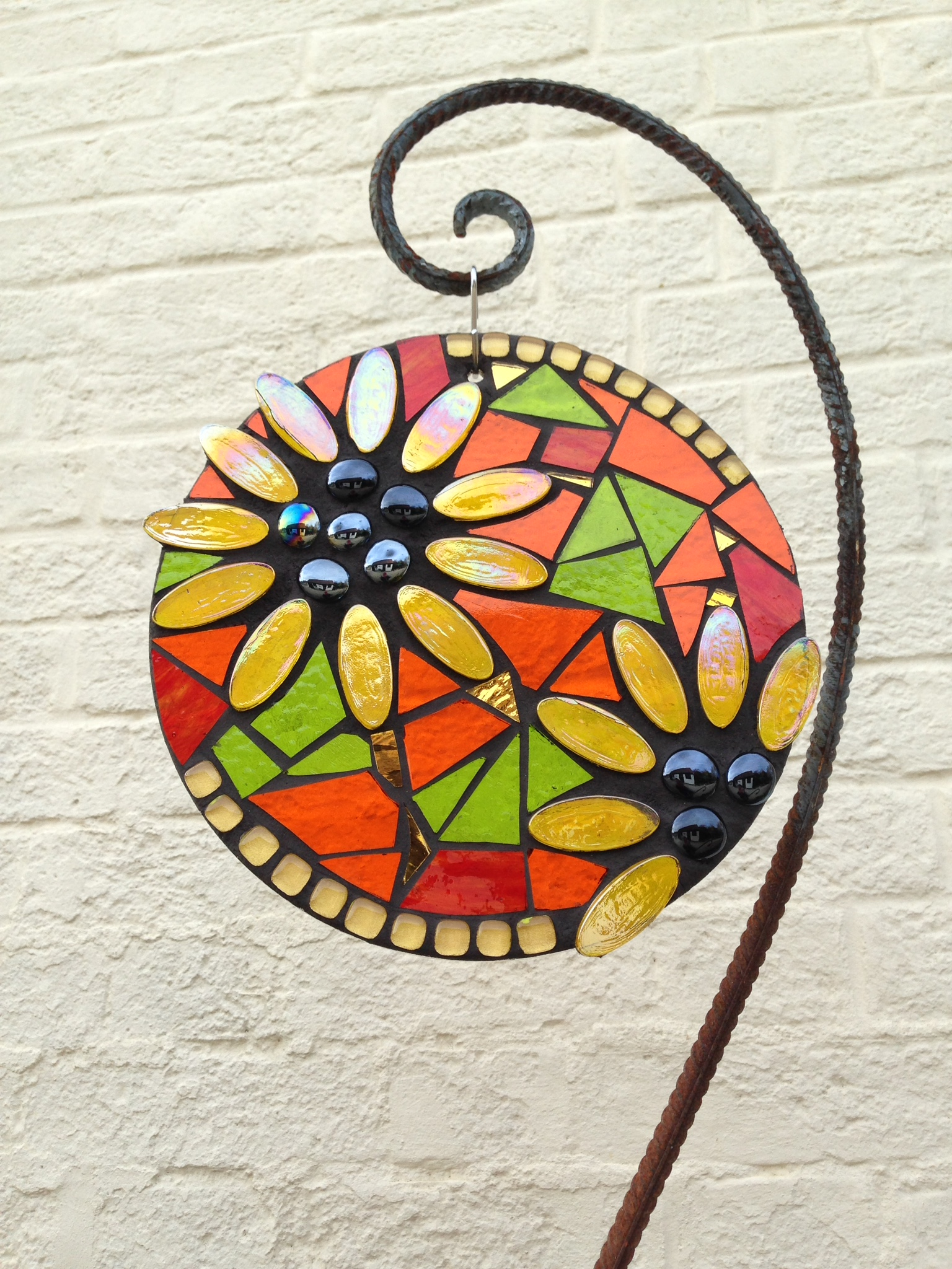 Sunflower Garden Mosaic Suncatcher