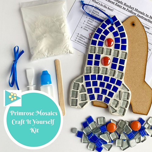 ROCKET- Indoor Mosaic Craft Kit