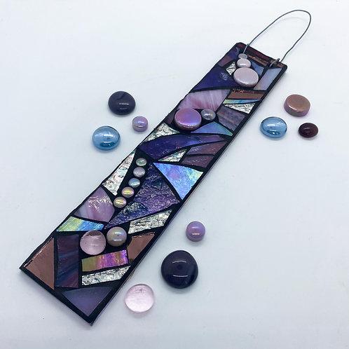 Purple Puzzle Hanging Garden Pendant