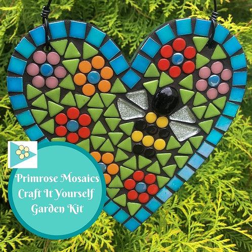 Floral Bee Heart - Garden Mosaic Craft Kit