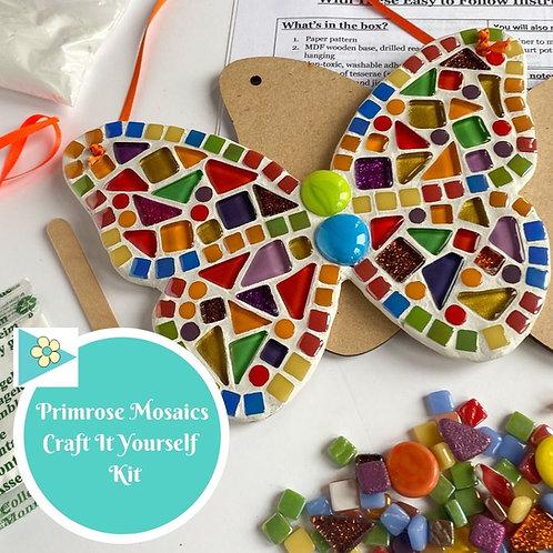 RAINBOW BUTTERFLY- Indoor Mosaic Craft Kit