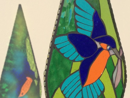 Kingfisher Garden Art- British Birds