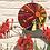 Thumbnail: Sunset Glory Sunburst Circle: Glass Hanging Garden Mosaic
