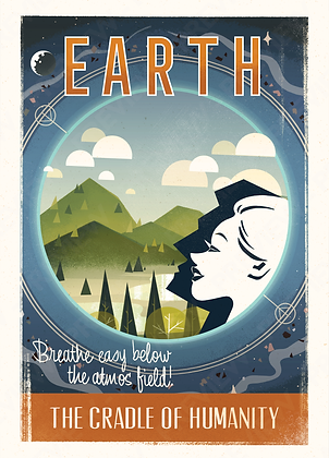 Tourist Print - Earth