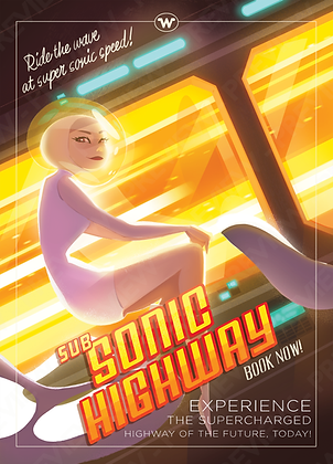 Tourist Print - Sub Sonic Highway