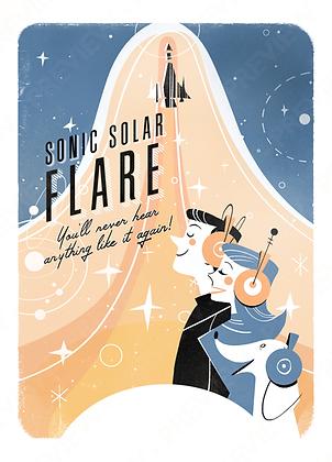 Tourist Print - Sonic Solar Flare
