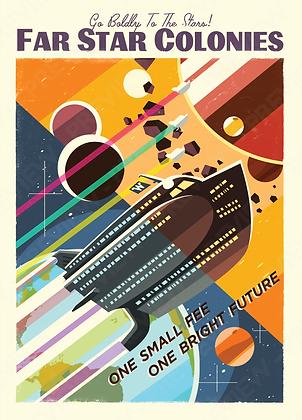Tourist Print - Far Star Colonies (Large)