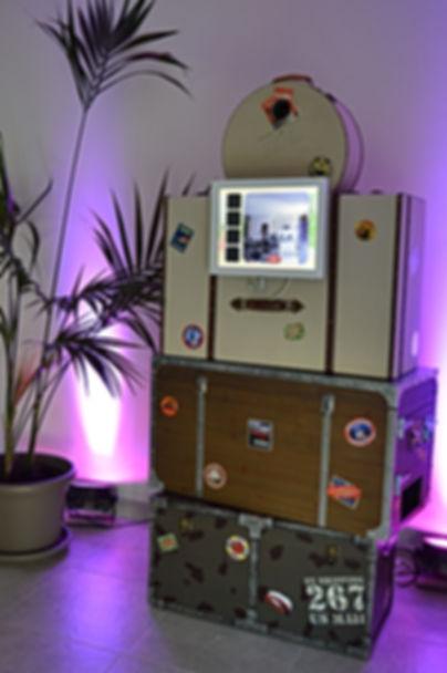photobooth mariage theme voyage