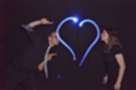 Animation light painting mariage pas cher