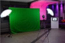 Stand Photo montage fon vert soirée d'entreprise