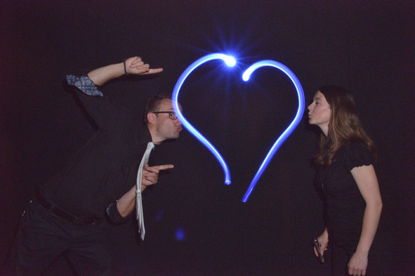 Light painting photocall originale pour entreprise