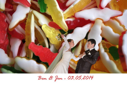 Photobooth photocall drôle pour mariage